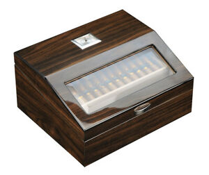 Quality 120 CT Count Cigar Humidor Humidifier Wooden Case Box Hygrometer for