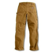 Carhartt B11 Washed Duck Work Dungaree - 36 - 32 - Brown