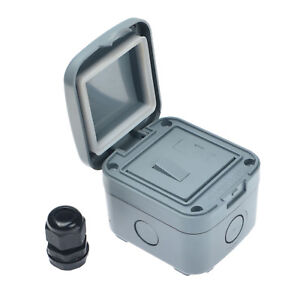 Outdoor Switched Fuse Electrical Connection Box Case 1-Gang Fused IP66 15A  | eBayeBay