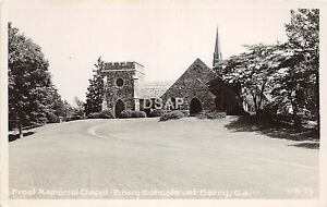 C47-Mt-Berry-Georgia-Ga-Real-Photo-RPPC-Postcard-c1950s-Frost-Memorial-Schools