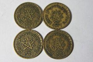 4 X Maroc-maroc - 20 Francs-vingt Franc Coin - 1371-empire Cherifien-afficher Le Titre D'origine