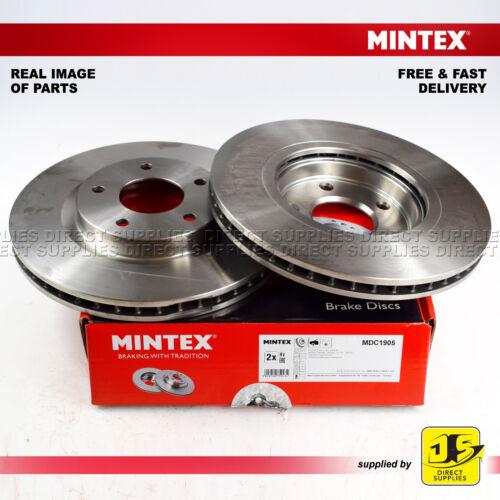 2X MINTEX FRONT DISC BRAKES MDC1905 NISSAN X-TRAIL T31 2.0 FWD dCi 4x4 2.5 4x4