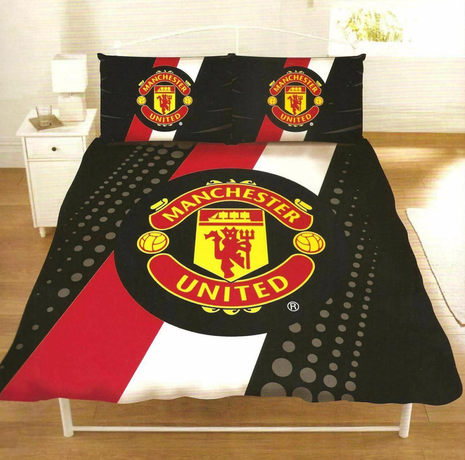 Manchester United FC Single Double Duvet Startseite Bett Set Football Bettding Man Utd