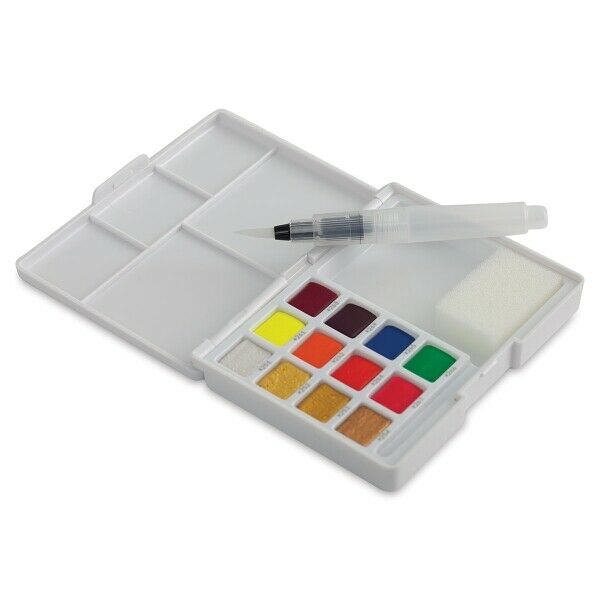 Assorted Fluo Sakura XNCW-12MH Koi Watercolor CAC Box 12 Color Field Sketch Set
