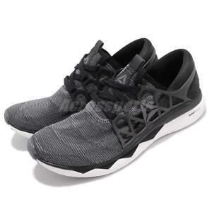 Reebok-floatride-Run-Toile-Noir-Blanc-Gris-Hommes-Chaussures-De-Course-Baskets-CN5227