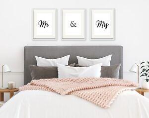 Anniversary Gift Bedroom Prints Wedding New Home Gift Mr /& Mrs