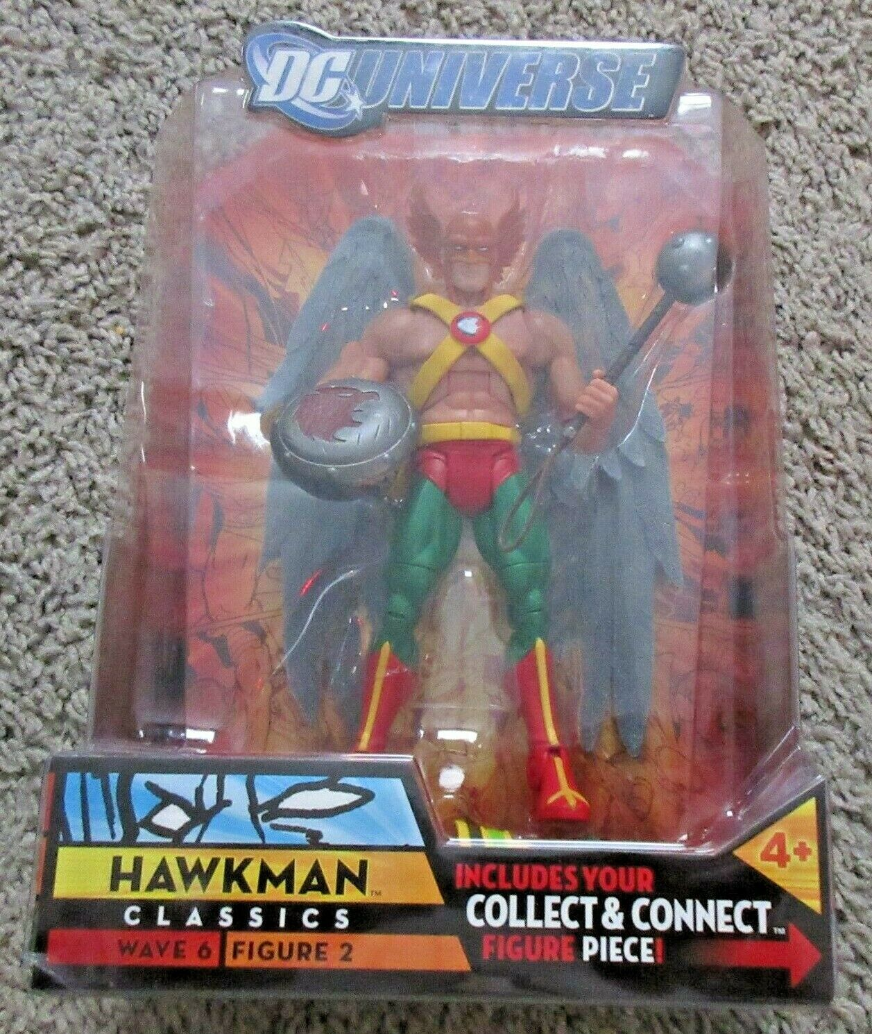 DC UNIVERSE CLASSICS HAWKMAN 6  INCH SUPER POWERS JUSTICE LEAGUE RARE