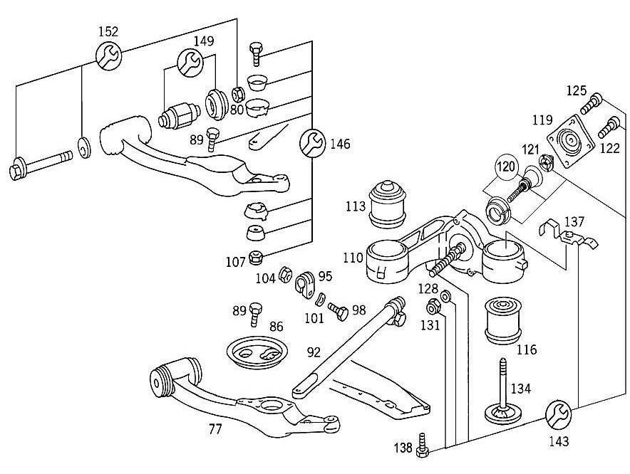 Mercedes Oem Steering Knuckle And Control Arm Bracket Nut 1263300488