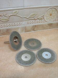 4-Tlg-58mm-Schmuck-THK-Diamant-Glas-Metall-Trennscheibe-Schleifscheibe-Dremel