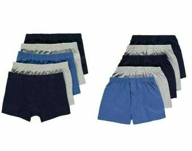 Boys Boxer Shorts Kids Briefs Boxers Trunks Short Plain Printed Cotton Underwear