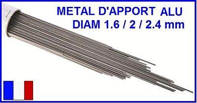 ETUI METAL D'APPORT ALU ALMG5 SOUDAGE TIG FSH WELDING 1.6 / 2 ou 2.4 MM par 1KG