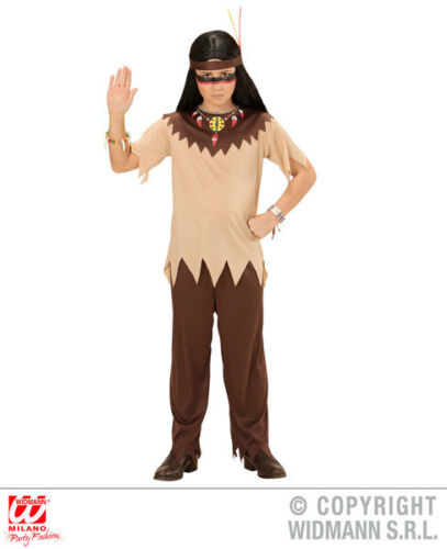 Boys Kids Childs Native American Fancy Dress Costume Wild West Outfit 5-13 Yrs