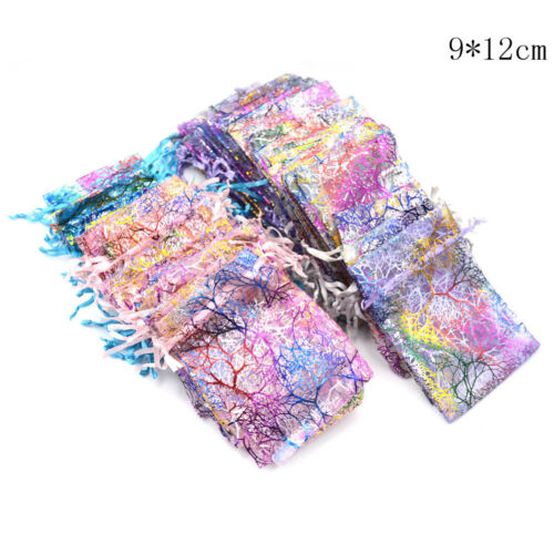 50X Multicolor Coralline Organza Wedding Party Favors Gift Jewelry Candy Bag FT