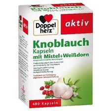 DOPPELHERZ Knoblauch Mistel Weißdorn Kapseln 480 St PZN 538567