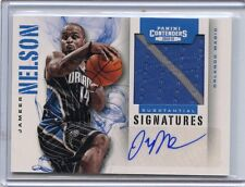 2012-13 CONTENDERS #55 JAMEER NELSON AUTOGRAPH JERSEY #3/99, ORLANDO MAGIC