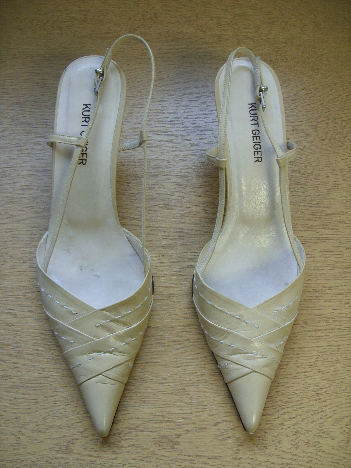 Ladies shoes Kurt Geiger nude leather sling-back, size UK 6.5, EU 39.5, 3384