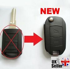 "Fits to Vauxhall Opel Corsa  Meriva Combo 2 Button Flip Key Fob Case ""WITH LOGO"""