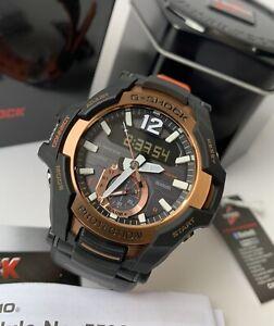 Casio-G-Shock-GravityMaster-GRB100-1A4-Solar-Bluetooth-Black-amp-Rose-Gold-Watch