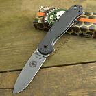 ESEE Avispa Black FRN Handle Satin Finish AUS-8 Framelock Knife BRK1301