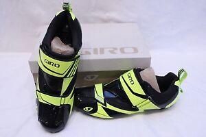 New-Men-039-s-Giro-Mele-Tri-Black-Cycling-Shoes-SPD-SL-45-5-11-5-EC70-Carbon-200