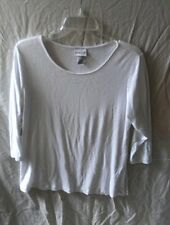 Chico's Size 2 Large White Knit Top Blouse