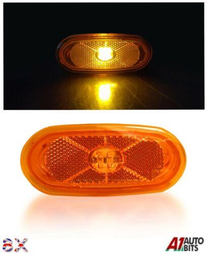 8x For Mercedes Sprinter Vw Crafter Side Marker Lights Lamp Led Amber Orange 12v