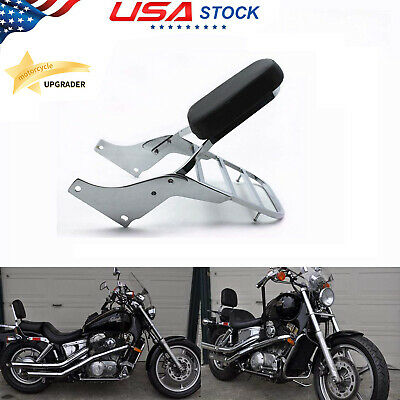 SLMOTO Sissy Bar Backrest Set Luggage Rack Fit for Fit for Honda Shadow ACE 1100 VT1100 All Years