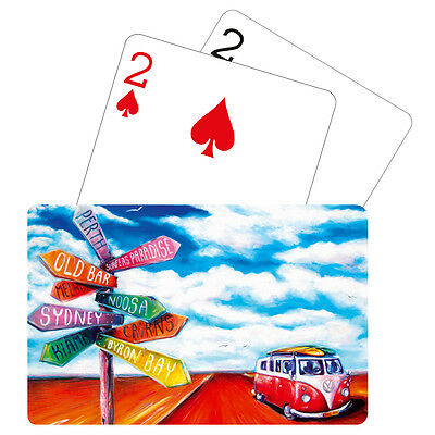 PLAYING CARDS Deck - Aussie Adventure Road Trip VW Kombi Beach + Game Rules