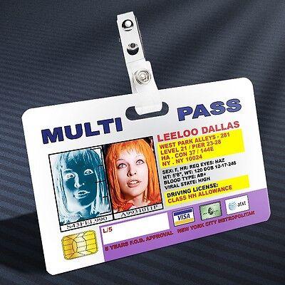 Fifth Element - Leeloo Multipass Prop ID Badge