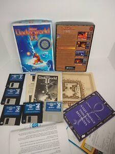 Ultima-Underworld-II-2-Labyrinth-of-Worlds-PC-DOS-3-5-034-BIG-BOX-Spiel-mit-Clue-Book