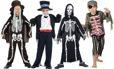 BOYS GRAVEYARD CREEP CRYPT HALLOWEEN SCARY FANCY DRESS COSTUME SIZE 4-14