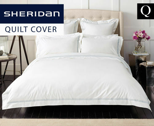 Sheridan Palais Queen Tailored Quilt Cover Barely Blue