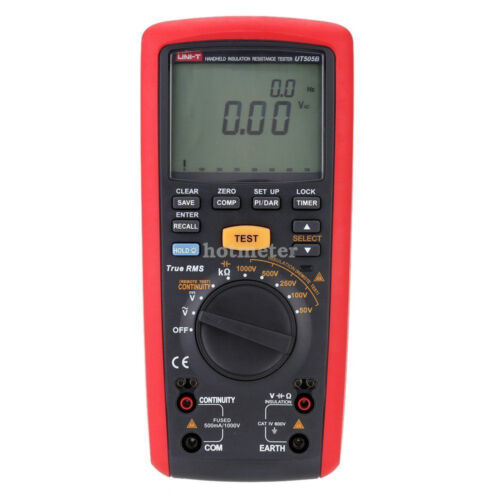Meas H ● UNI-T UT505B Handheld Tester Digital De Resistencia De Aislamiento AC//DC Voltaje