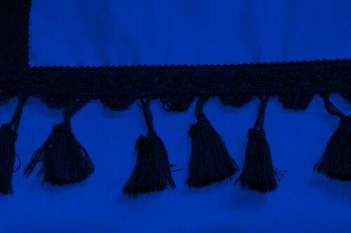 LKW MAN TGA TGX TGS TGM TGL Passform Frontscheibenborde Gardinen Vorhänge Blau