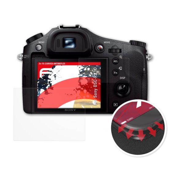 2019 Nouveau Style Atfolix 3x Anti-choc Film Protecteur Pour Sony Dsc-rx10 Fx-curved-antireflex Nourrir Les Reins Soulager Le Rhumatisme