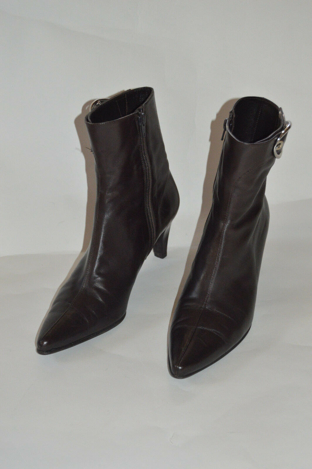 STUART WEITZMAN brown leather short ankle boot high heel size 9 M