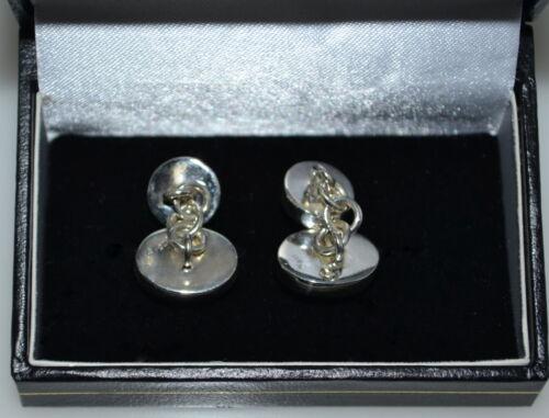 Amethyst und Rauchige Quarz Manschettenknöpfe in Sterlingsilber 925 Kette 4