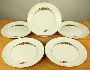 5-Tafel-Speise-Teller-Rosenthal-Romanze-in-Dur-handgemalt-25cm-Porzellan
