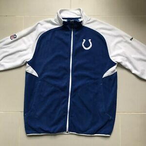 NFL-Indianapolis-Colts-Reebok-Onfield-Full-Zip-Fleece-Jacket-Small