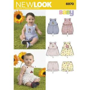 NB-S-M-L NEW LOOK Patterns Babies Romper and Sundress with Panties Size A 6440