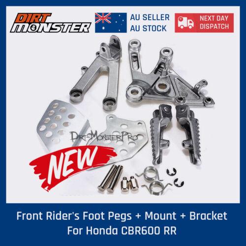Bracket for Honda CBR600 RR 03 04 05 06 Street Front Rider/'s Foot Pegs Mount