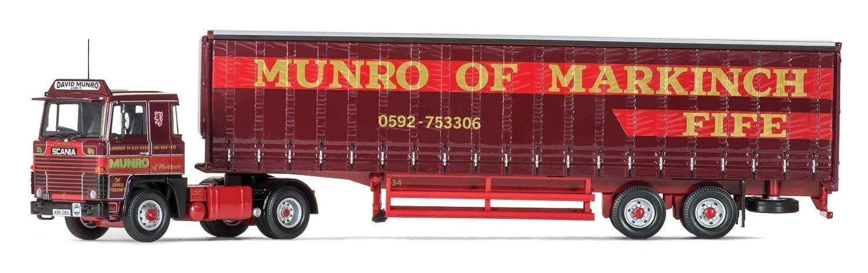 deportes calientes Corgi Scania 111, 111, 111, 40 ft (approx. 12.19 m) Curtainside Remolque, David Munro and Sons Ltd, CC15310  venta con alto descuento
