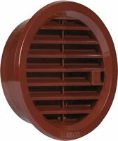 Circle Air Vent Grille Cover 100mm Ducting Brown Ventilation Cover