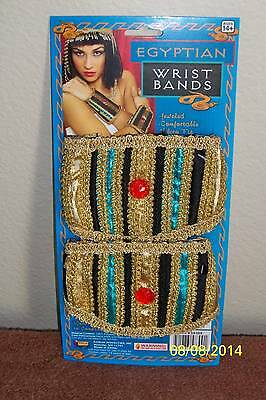ADULT EGYPTIAN WRIST BANDS CLEOPATRA NILE QUEEN COSTUME ACCESSORY FM58300