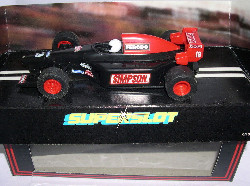 SUPERSLOT H616 FORMULA 3 TEAM SIMPSON SCALEXTRIC UK MB