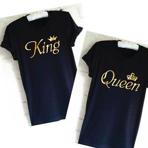 King Queen T Shirt Set Matching Couple Shirts Wedding