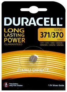 1-x-Duracell-371-SR920SW-370-SR920W-AG6-SR69-D371-Watch-Battery-Silver-Oxide
