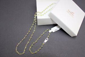 Echte-Edelsteine-Kette-Silberkette-mit-peridot-Kette-amp-Armband-Schmuckset