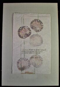 Marlene REIDEL (1923-2014) illustriertes Gedicht - ZU KURZ DÜNKT EUCH DAS LEBEN