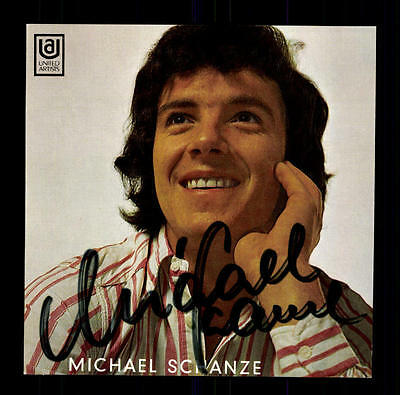 Michael Schanze Autogrammkarte Original Signiert ## Bc 73098 Clear-Cut-Textur National
